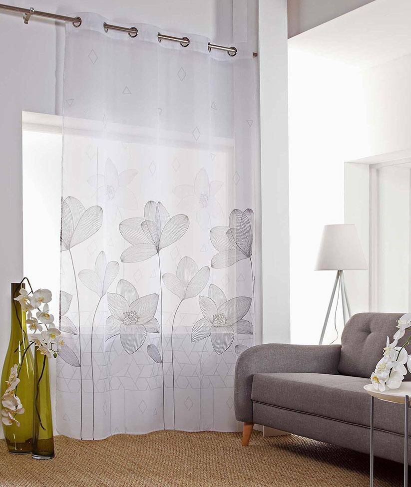Voilage à Imprimés Fleurs d'Orchidée (Multicolore)