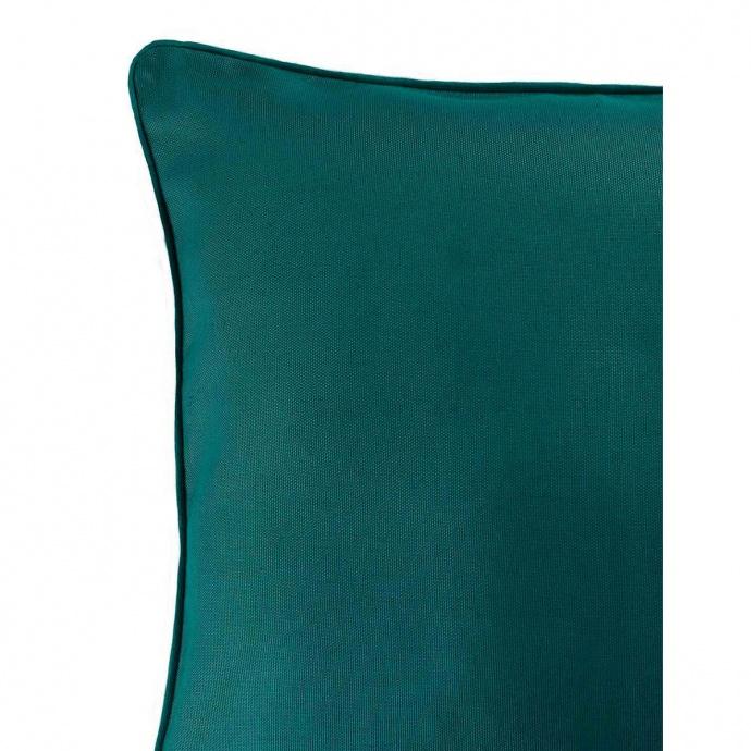 Coussin carré uni coloré (emeraude)