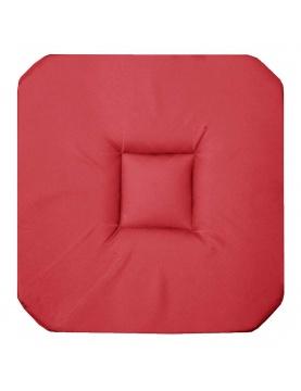 Galette de chaise unie colorée