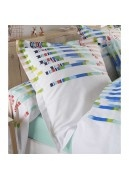 Taie d'oreiller aux rayures colorées et dynamiques