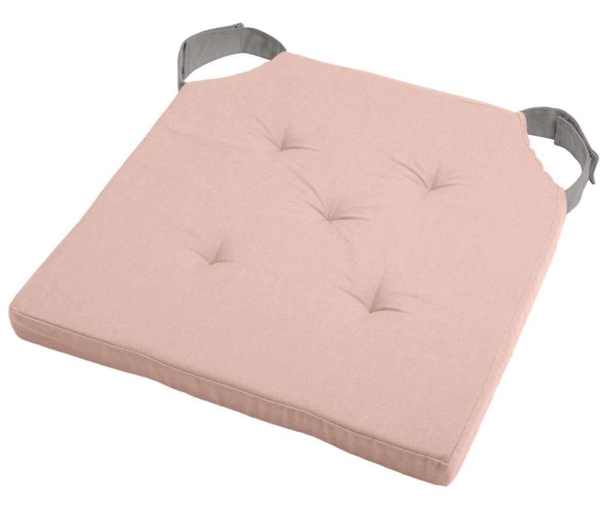Coussin de Chaise Bicolore  (Poudre/Souris)