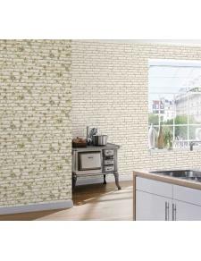Papier Peint à Briques Blanches et Lierre