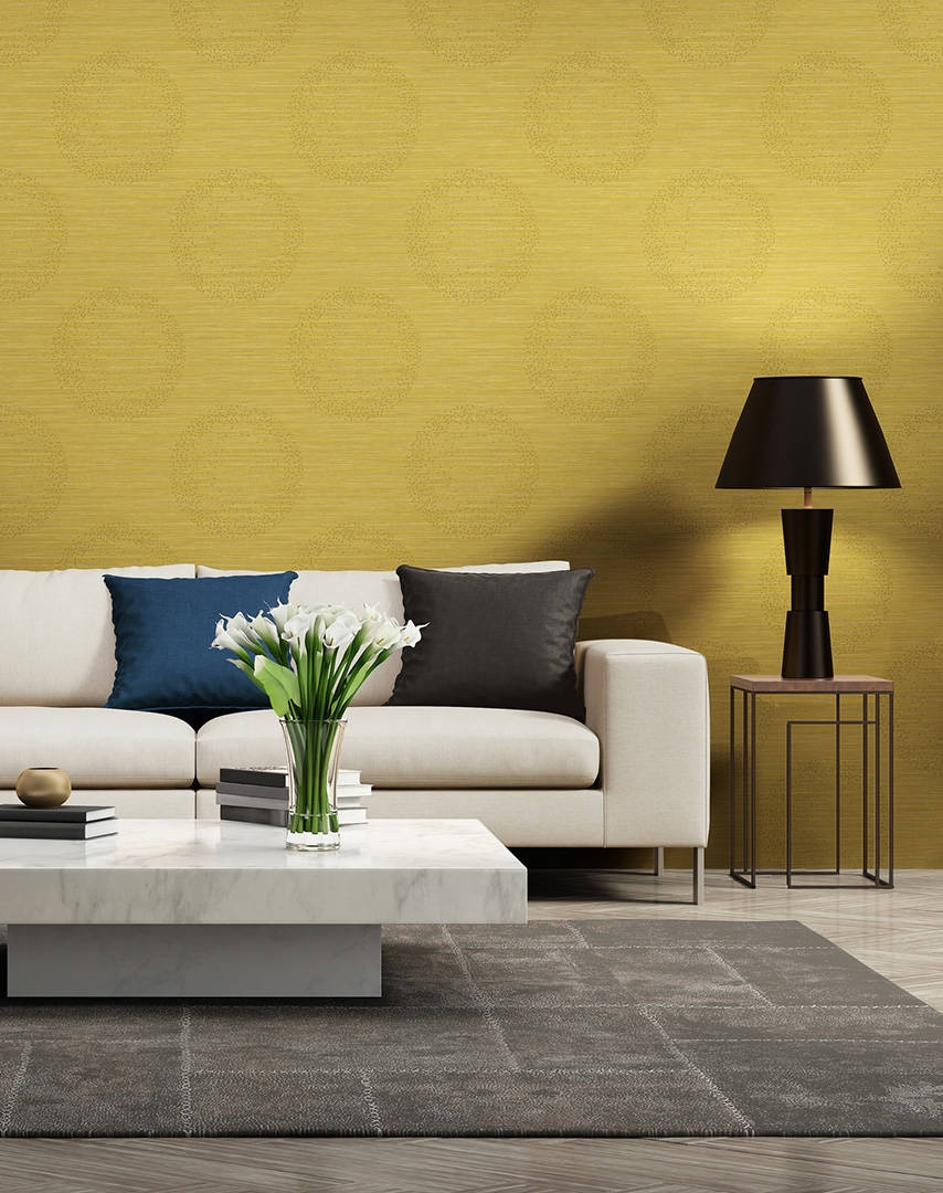 papier peint esprit ethnique color jaune noir ecru bronze homemaison vente en. Black Bedroom Furniture Sets. Home Design Ideas