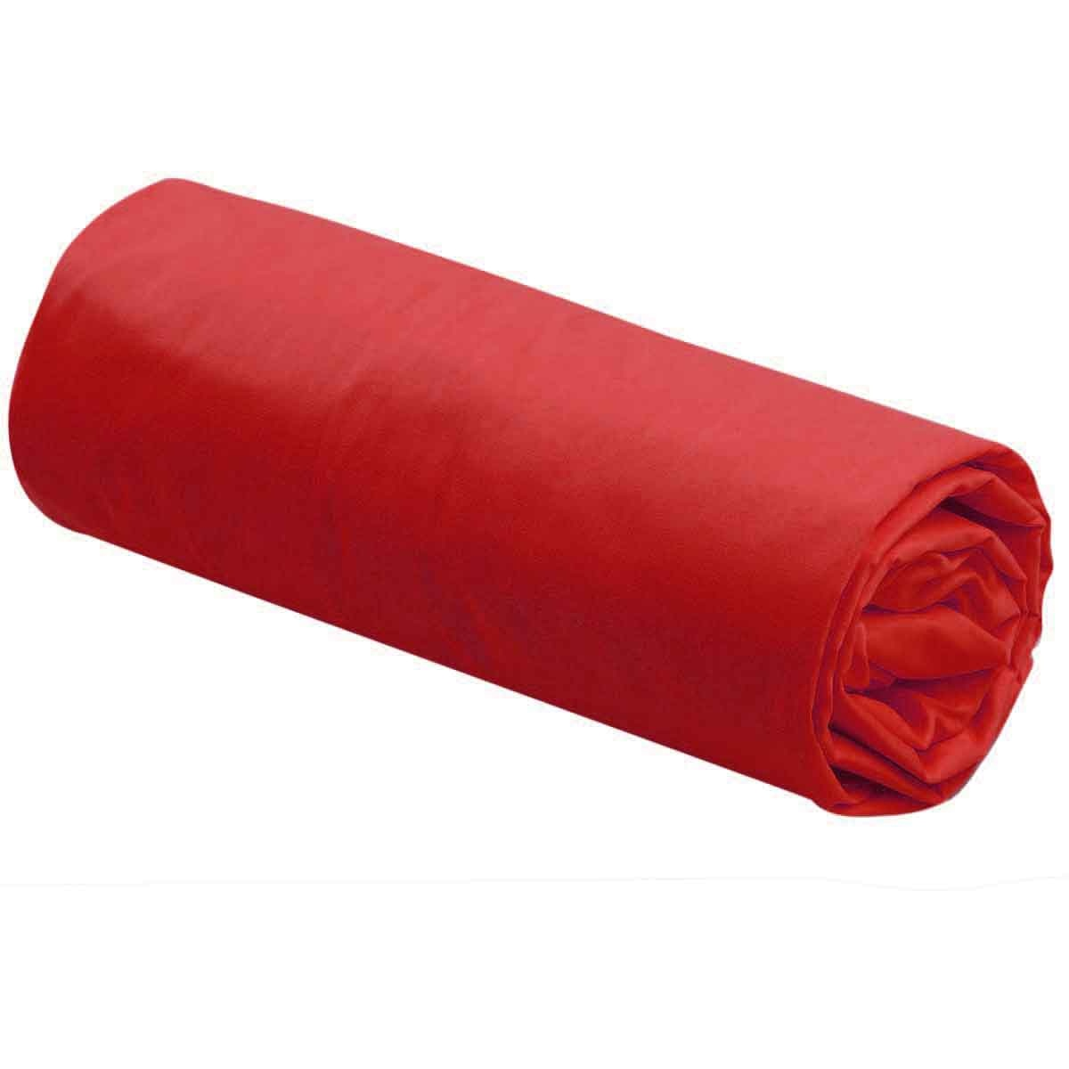 Drap Housse Uni 100% Coton (Rouge)