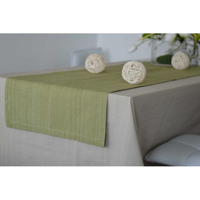 Chemin de Table en 100% Coton Biologique (Vert)