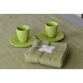 Lot de 4 Serviettes de Table en Coton Biologique (Vert)