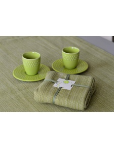 Lot de 4 Serviettes de Table en Coton Biologique