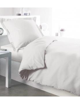 Housse de couette en coton blanc