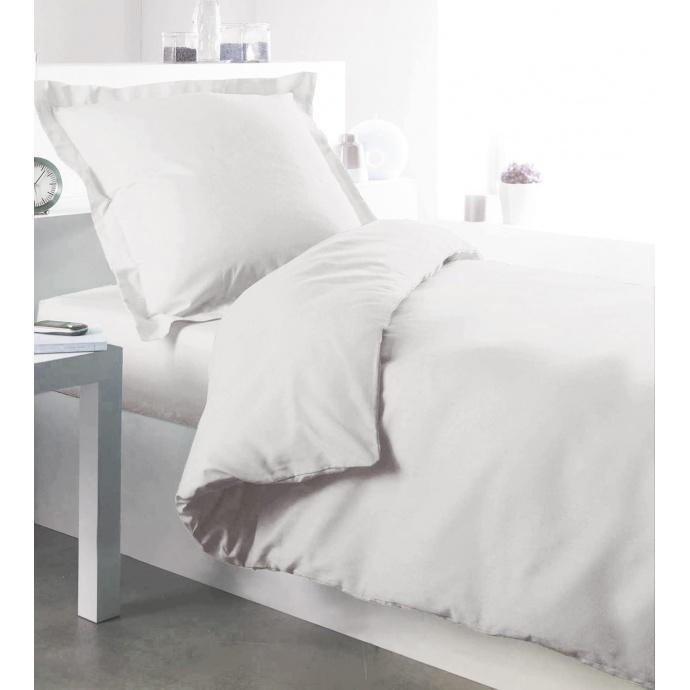 Housse de couette en coton blanc  (Blanc)