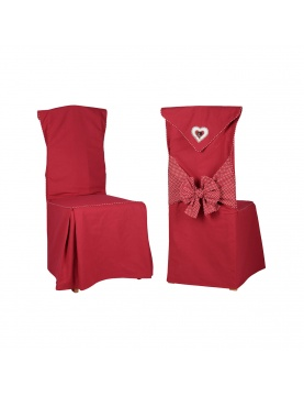 Housse de chaise rouge fantaisie