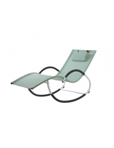 Rocking Chair en Acier et Textilène Coloré