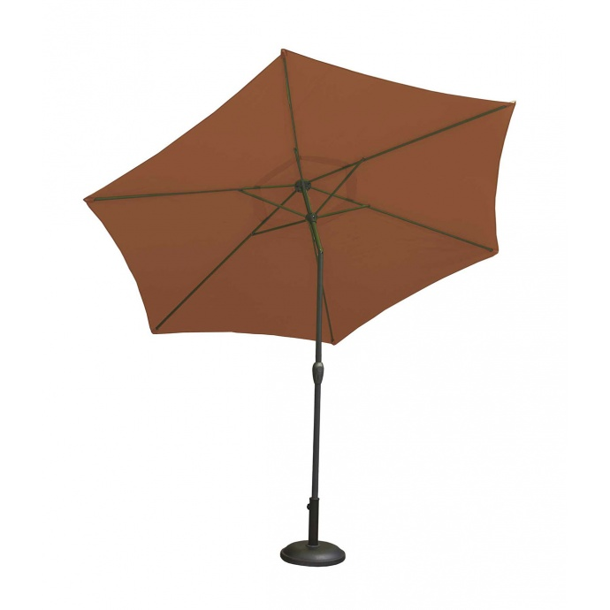 Parasol Centré et Inclinable Ø 3 m en Aluminium (Terracotta)