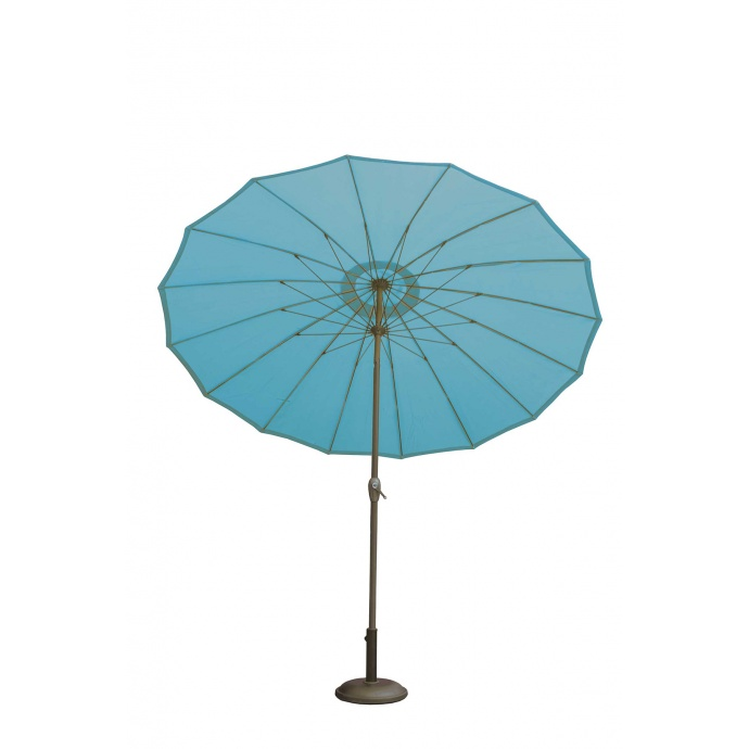 Parasol à Effet Parapluie Composé de 16 Baleines (Bleu Pétrole)