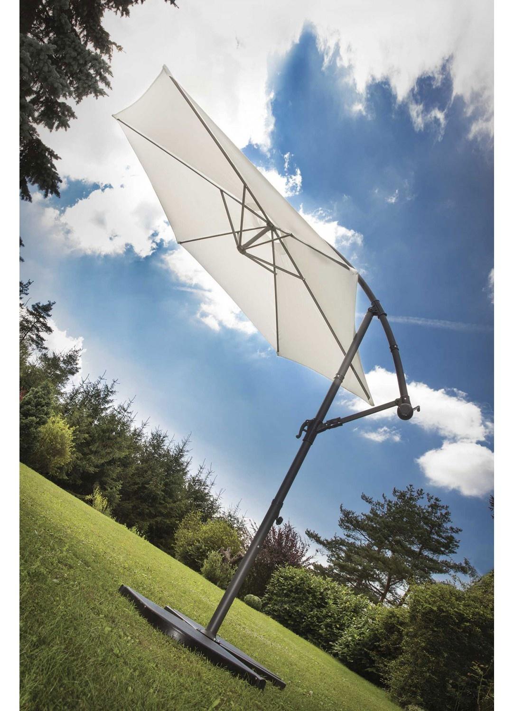 Parasol Ø 3 m Mat Déporté à Manivelle (Ecru)