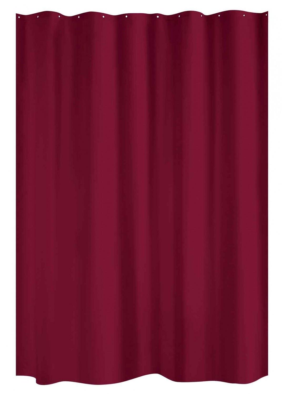 Rideau de Douche Uni (Rouge Cardinal) - HomeBain : vente en ligne ...