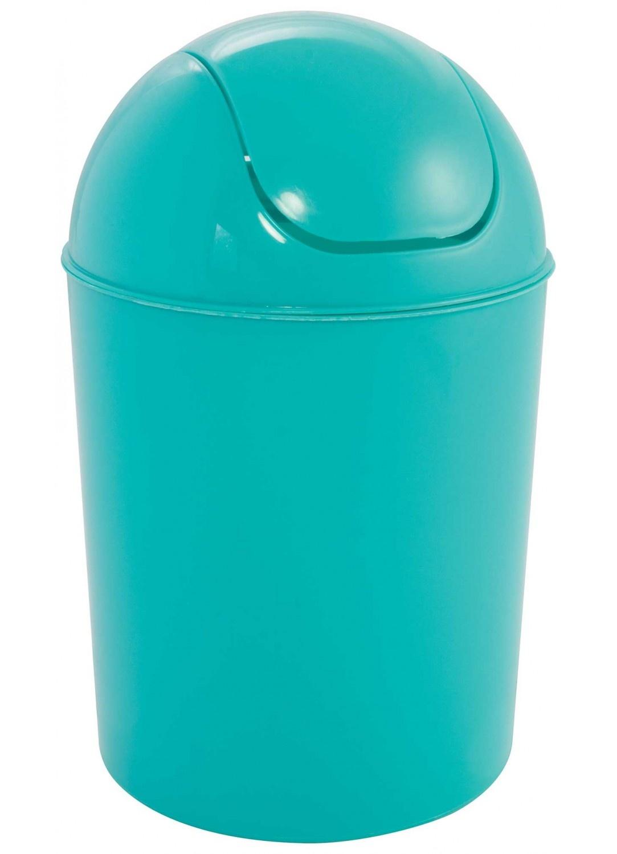Poubelle Colorée 5L  (Turquoise)