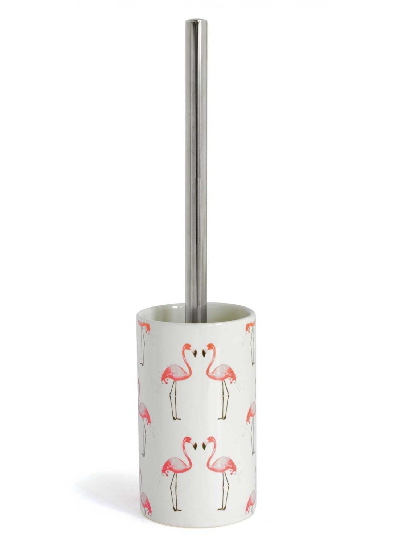 Creer Salle De Bain Dans Une Chambre ~ Pot Balai Flamant Rose Blanc Homebain Vente En Ligne Pots