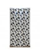Rideau ameublement jacquard motif géométrique 140x260 cm