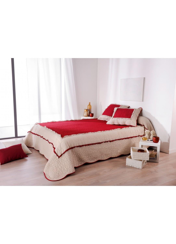 couvre lit marquise rouge gris homemaison vente en ligne couvertures et plaids. Black Bedroom Furniture Sets. Home Design Ideas