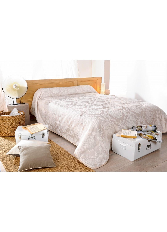 jet de lit san marco brod ivoire et blanc beige homemaison vente en ligne couvertures. Black Bedroom Furniture Sets. Home Design Ideas