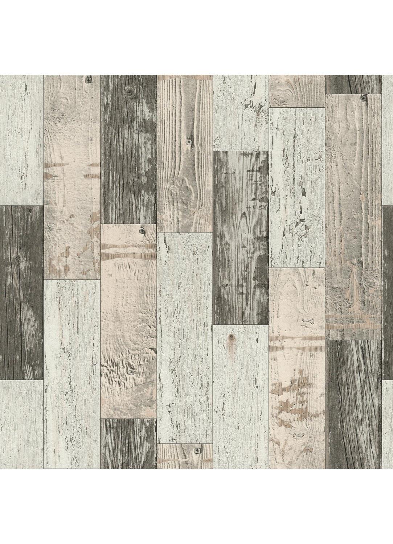 papier peint imitation parquet en bois gris. Black Bedroom Furniture Sets. Home Design Ideas