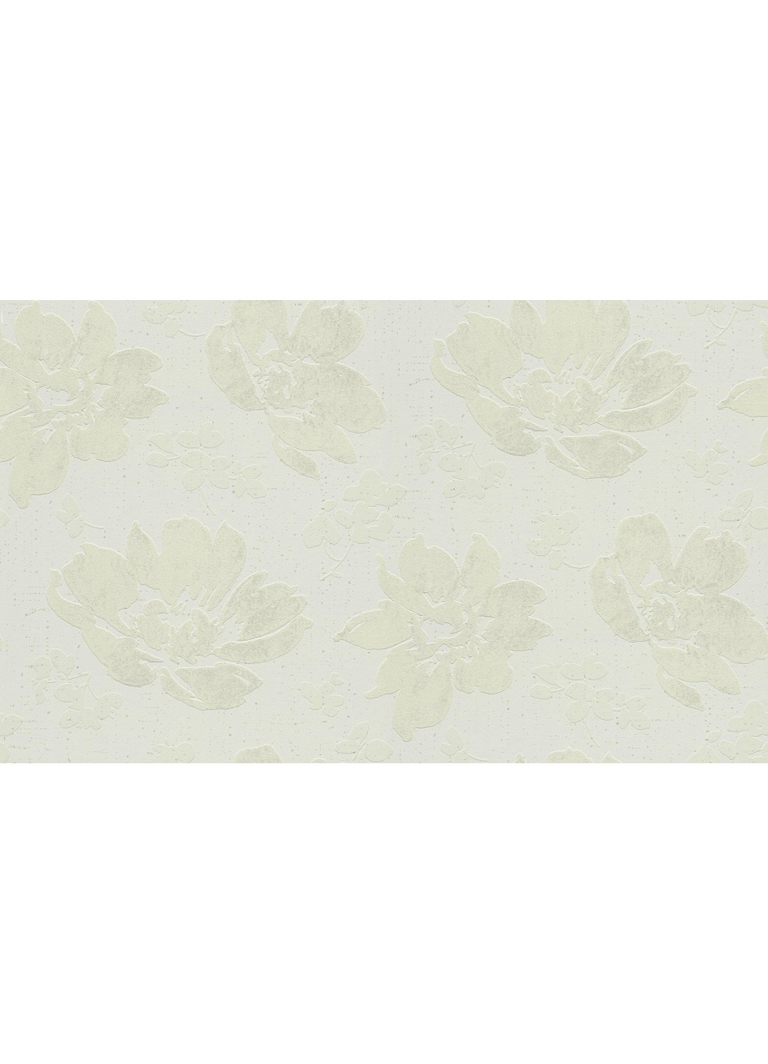 papier peint motif pivoines en relief blanc beige. Black Bedroom Furniture Sets. Home Design Ideas