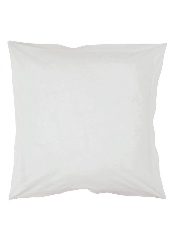 Taie d'oreiller percale 65 x 65 cm (Blanc)