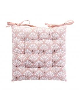 Galette de chaise matelassée rose