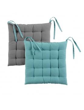 Galette de chaise matelassée bicolore