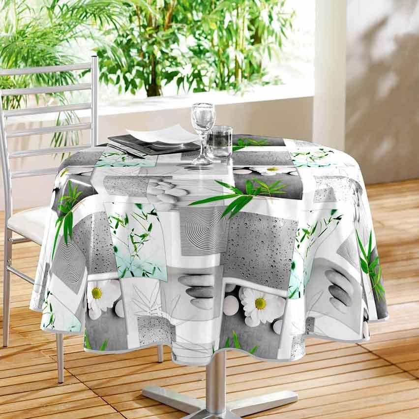 Nappe Ronde en PVC Inspiration Zen (SANS)