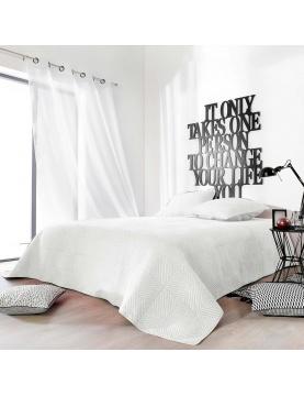 Couvre lit matelassé façon boutis en coton