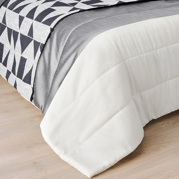 Jeté de lit aux motifs géométriques (Gris)