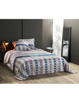 Jeté de lit aux rayures verticales