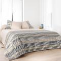 Jeté de lit imprimé aux motifs Inca (Beige)