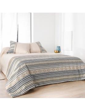 Jeté de lit imprimé aux motifs Inca