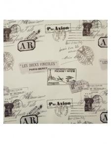 Tissu obscurcissant motifs tampons de passeport