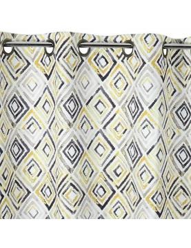 Rideau obscurcissant motifs géométriques losanges