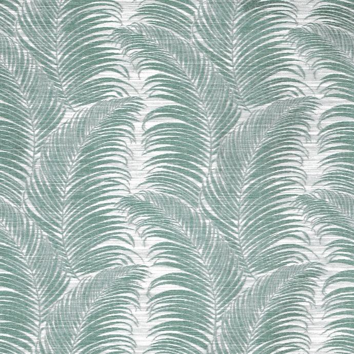 Rideau à oeillets aux motifs palmes (Bleu)