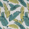 Rideau tamisant à motif plumes (Vert)