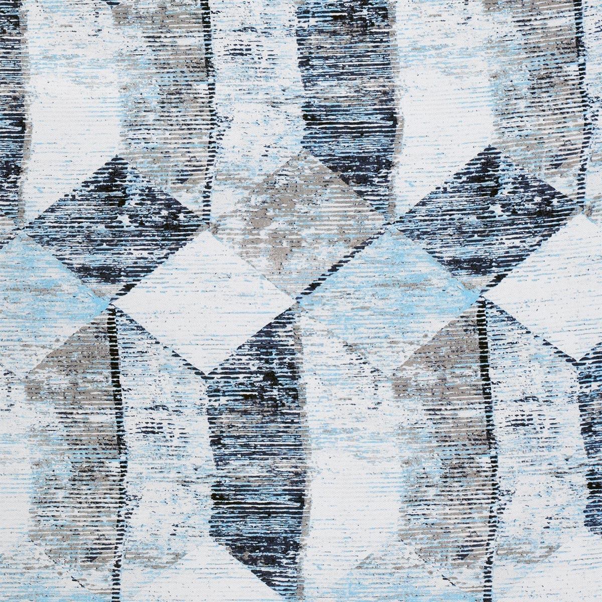 Tissu motifs géométriques effet vieilli