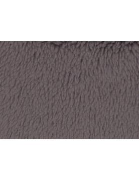 Tissu Polaire à Poils longs en 100 % Polyester (Gris)