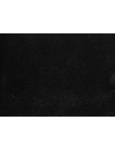 Tissu Polaire à Poils longs en 100 % Polyester (Noir)