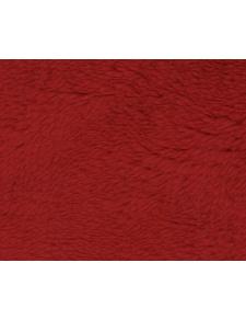Tissu Polaire à Poils longs en 100 % Polyester (Rouge)