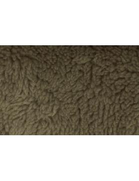 Tissu Polaire à Poils longs en 100 % Polyester (Taupe)