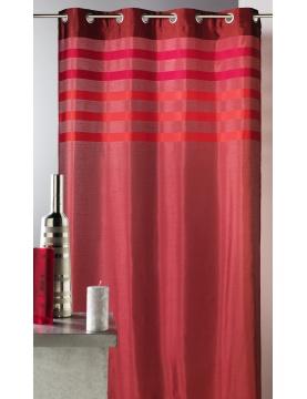 Rideau en shantung coloré avec parement ton sur ton