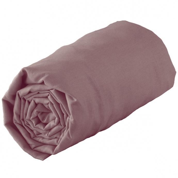 Drap Housse Uni en 100% Coton (Carbone)