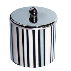 Boite à Coton 'Zebra' (Ecru)
