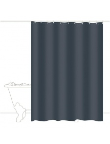 RIDEAU DE DOUCHE TRENDY ANTHRACITE