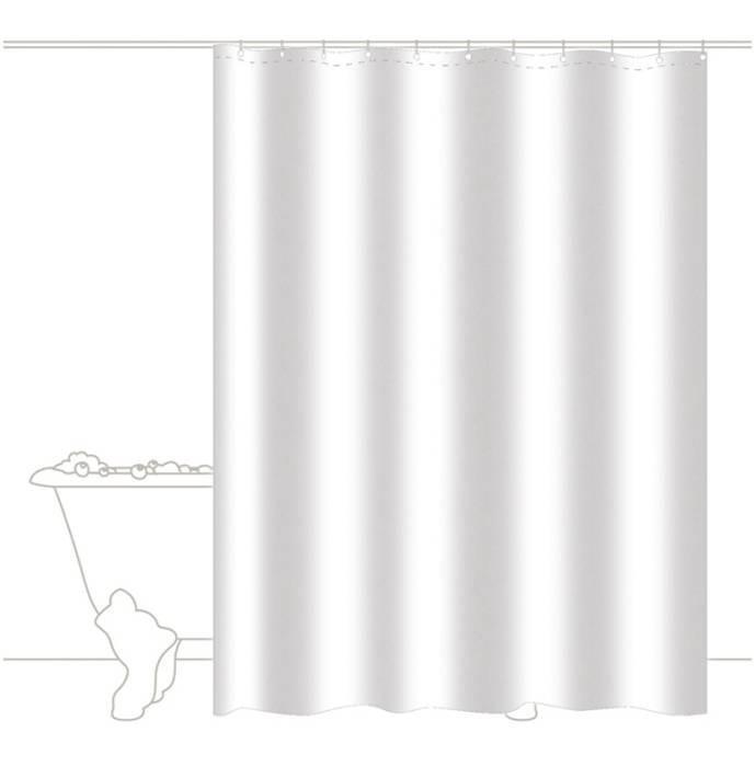rideau de douche trendy blanc blanc homebain vente. Black Bedroom Furniture Sets. Home Design Ideas