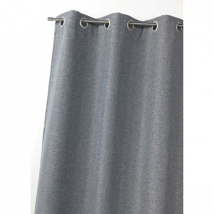 Rideau en toile effet lin isolant thermique (Gris)